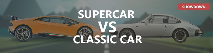 Supercar vs Classic Car